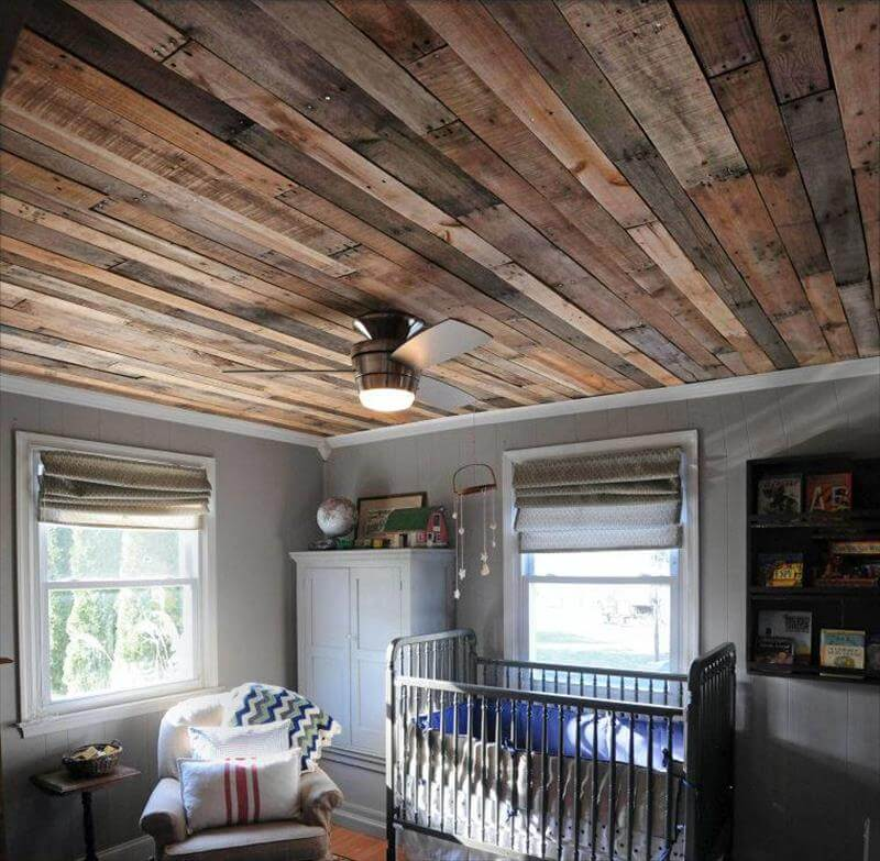 pallet roof ceiling paneling