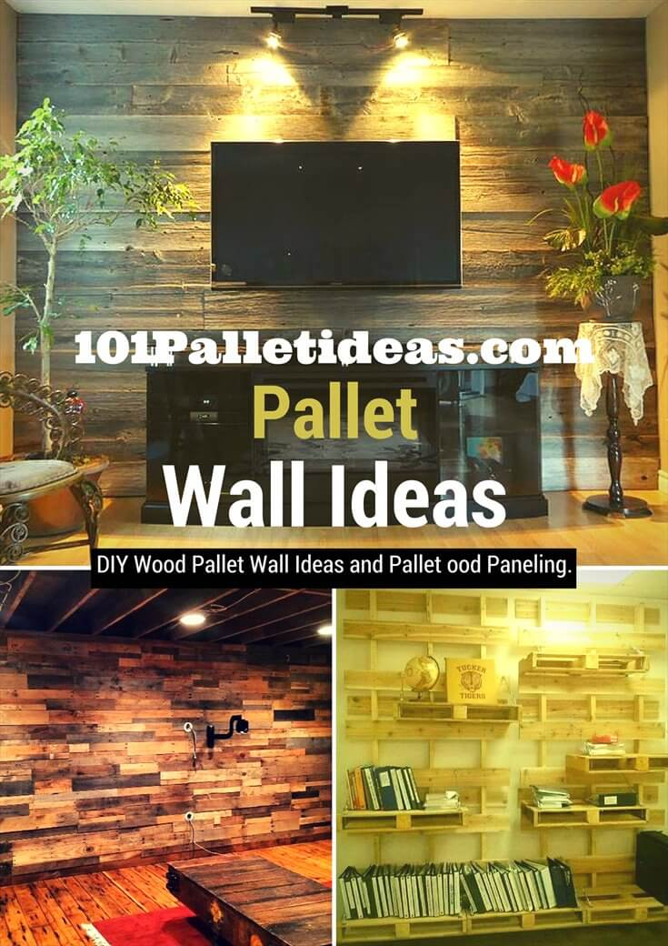 rustic pallet interior wood wall ideas