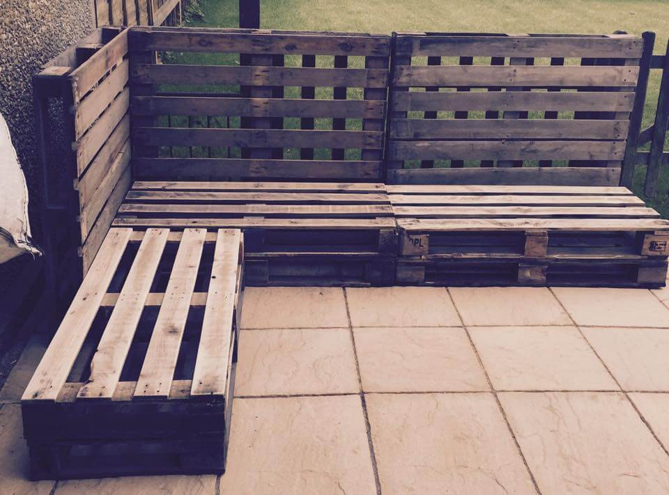 Outdoor pallet sectional sofa 101 pallet ideas - Pallet outdoor furniture instructions ...