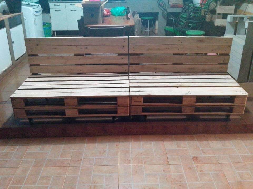 reclaimed whole pallet outdoor sofa frame