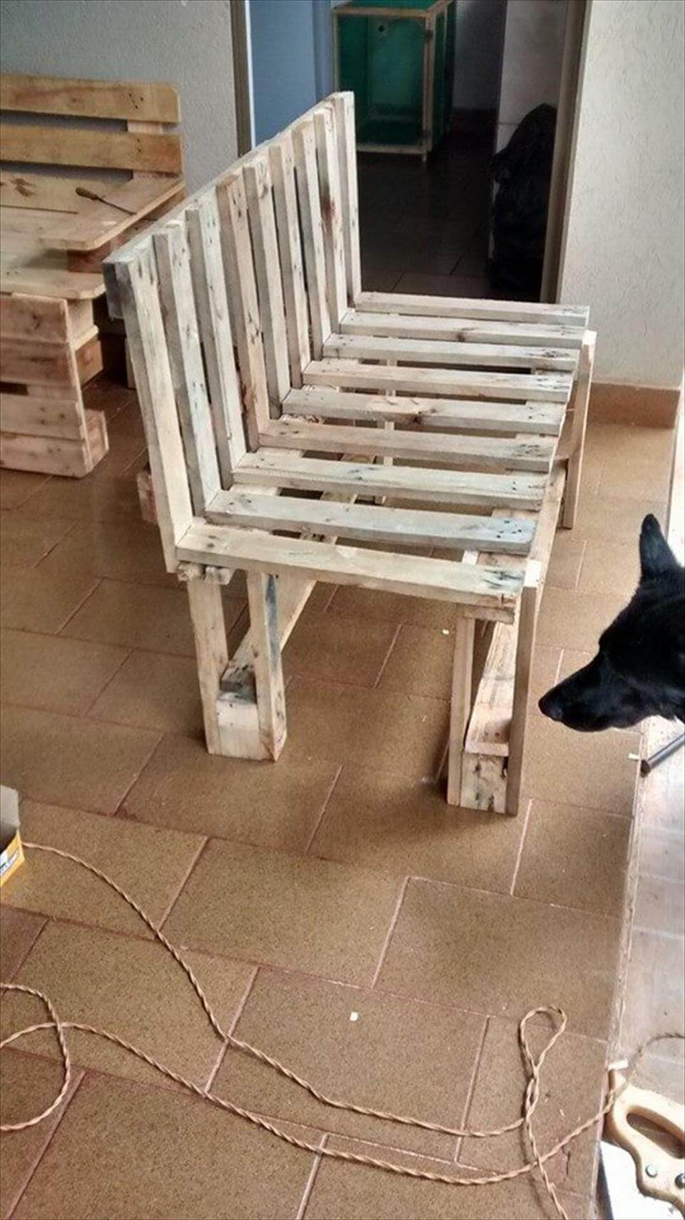 Rustic pallet bench for Furniture out of wooden pallets