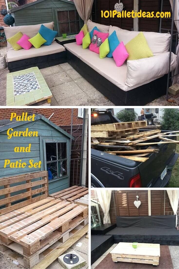 Pallet patio furniture cushions - Pallet Patio Furniture Ideas