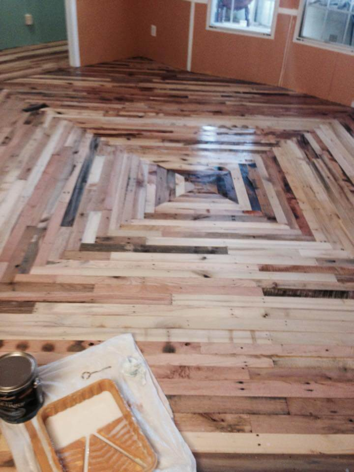 upcycled pallet interior flooring - Pallet Flooring Cheaper Than Wood - DIY