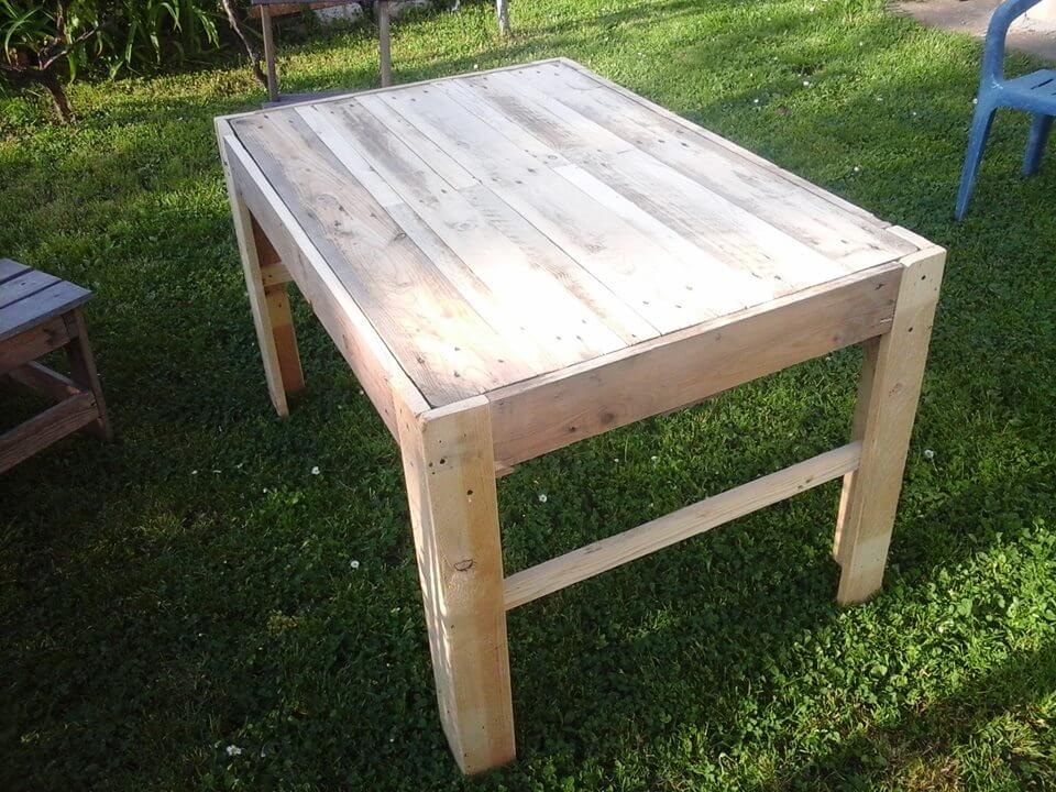 Coffee Table Made Of Reclaimed Pallets 101 Pallet Ideas