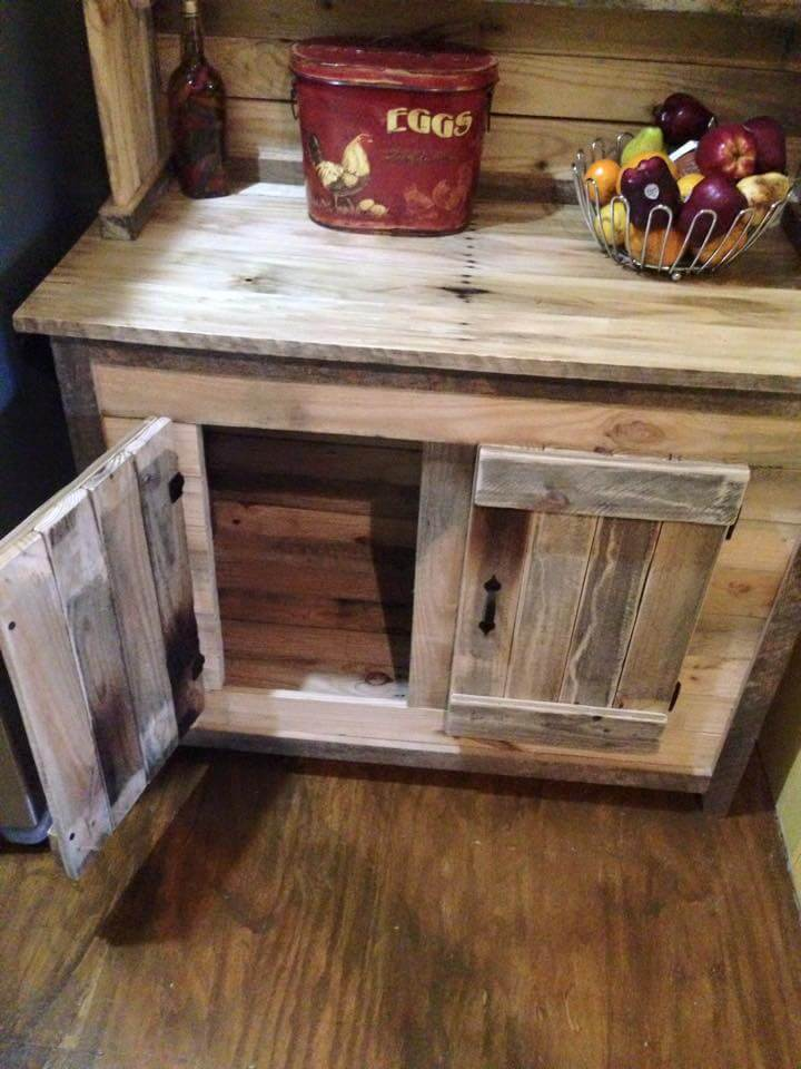 shelving ideas for bedroom closets - Kitchen Hutch Made From Pallets