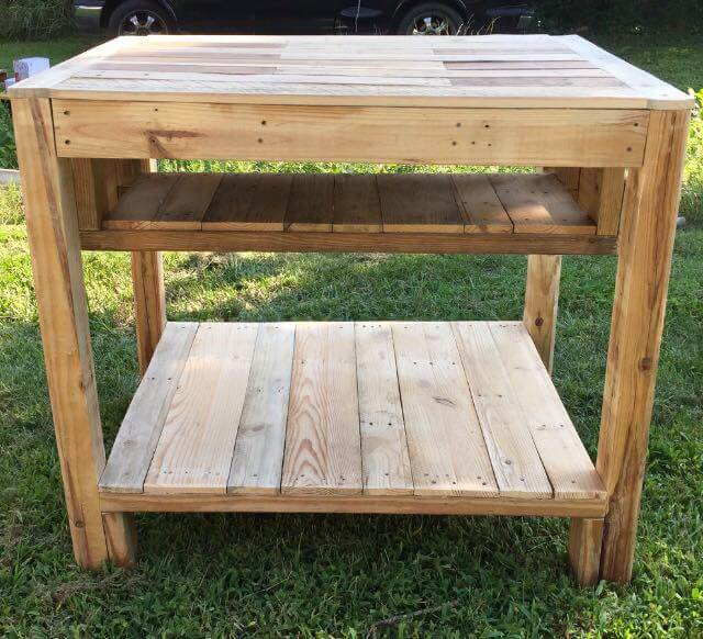 Kitchen Island Out Of Pallets reclaimed pallet kitchen island table