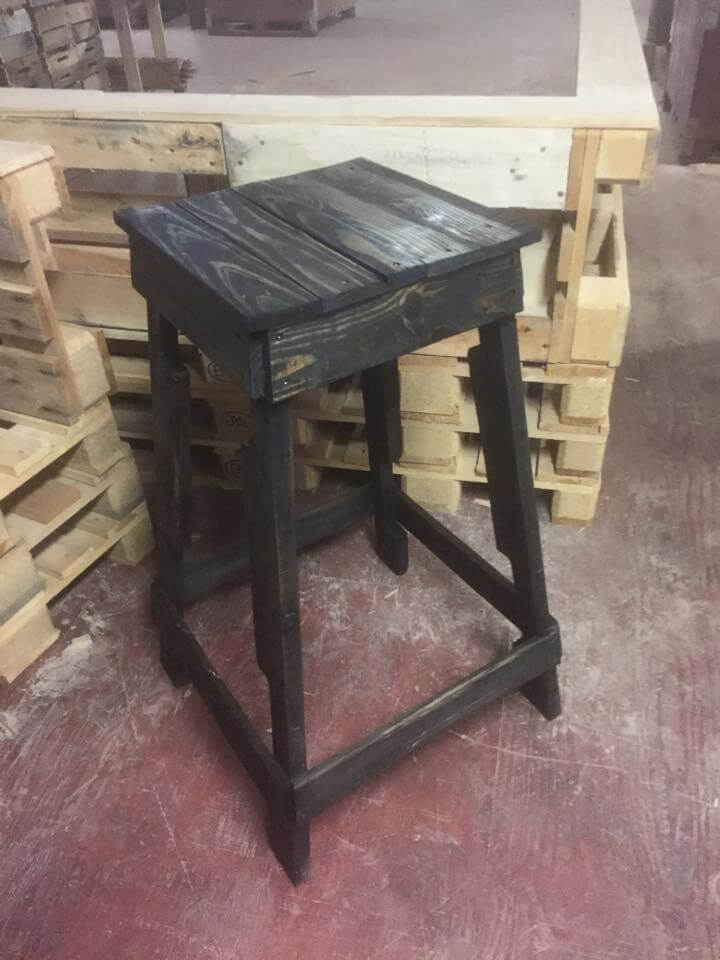 Reconstructed pallet stool