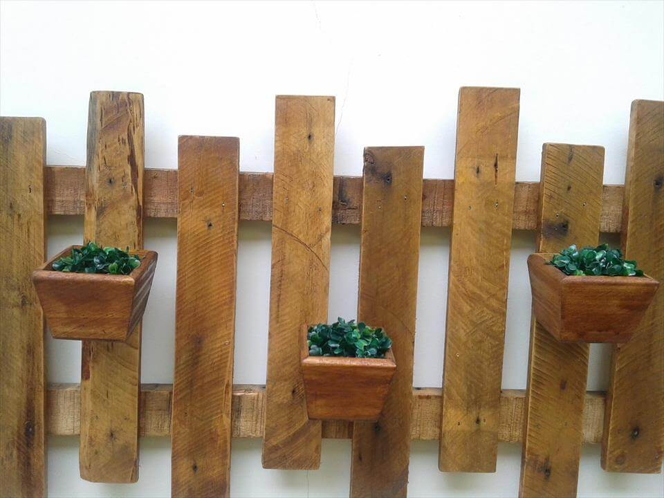 Pallet Wall Hanging rustic pallet wall hanging planter