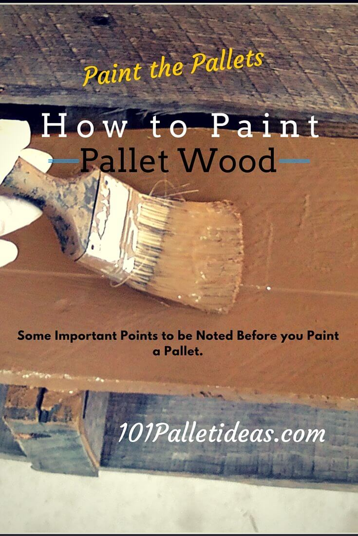 how to paint the pallet wood