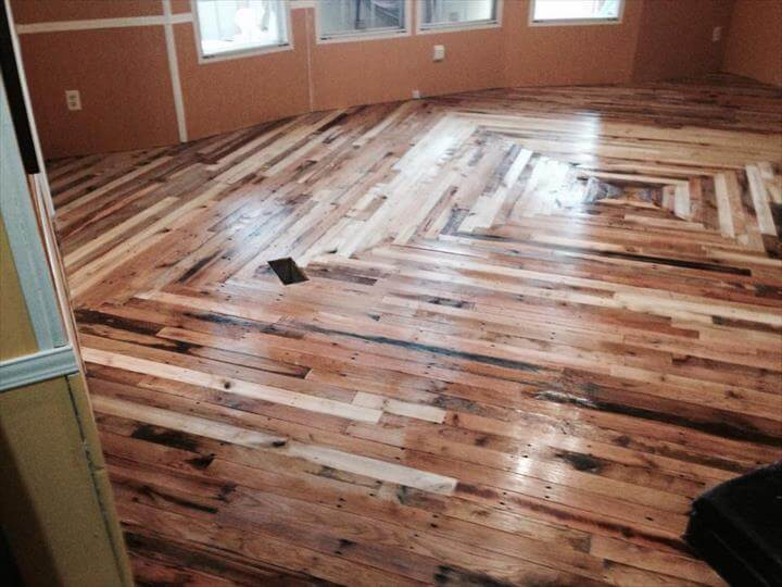 Pallet Flooring Cheaper Than Wood – DIY - DIY Pallet Flooring At No Cost