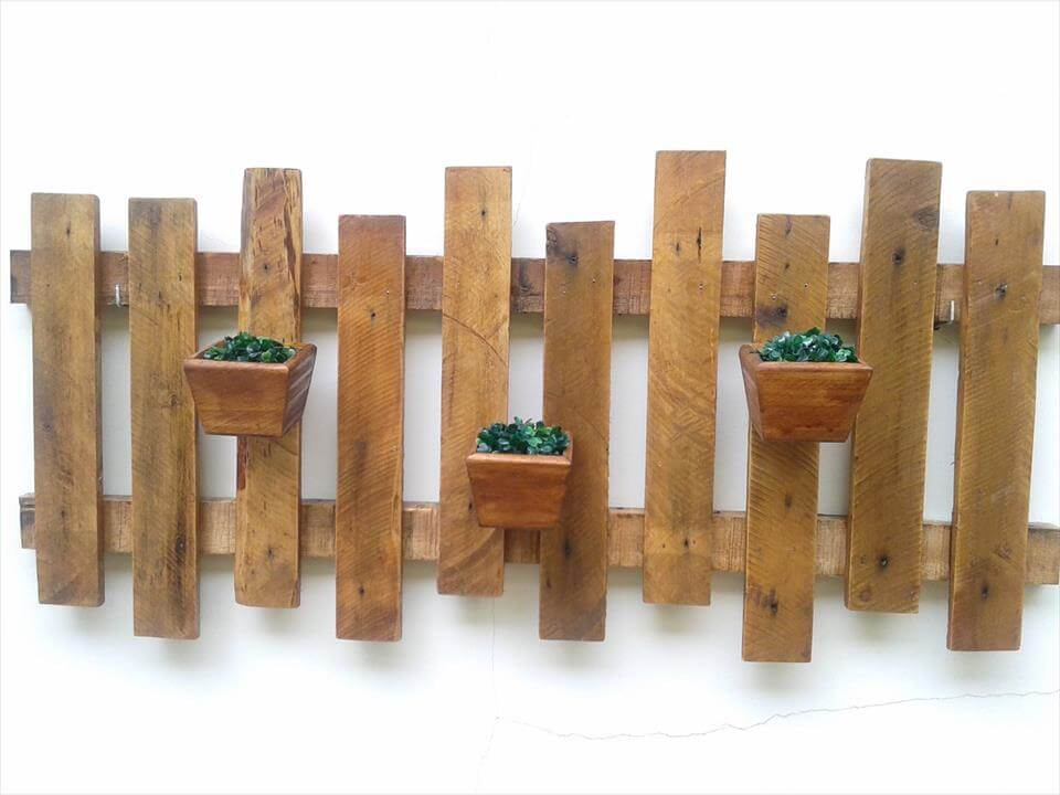 Rustic Pallet Wall Hanging Planter