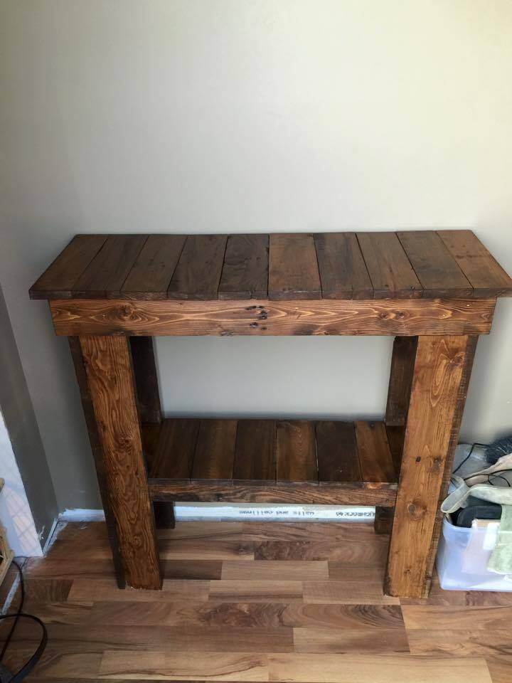 Foyer Table Made From Pallets : Inspired pallet ideas for your home