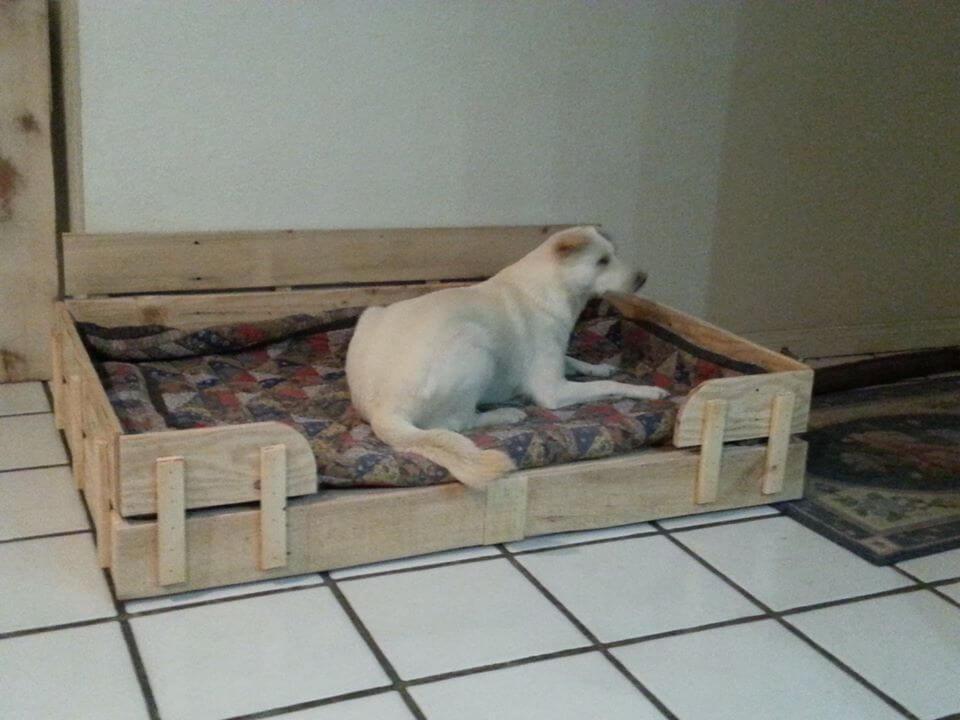 Pallet dog bed tutorial for Wood pallet dog bed
