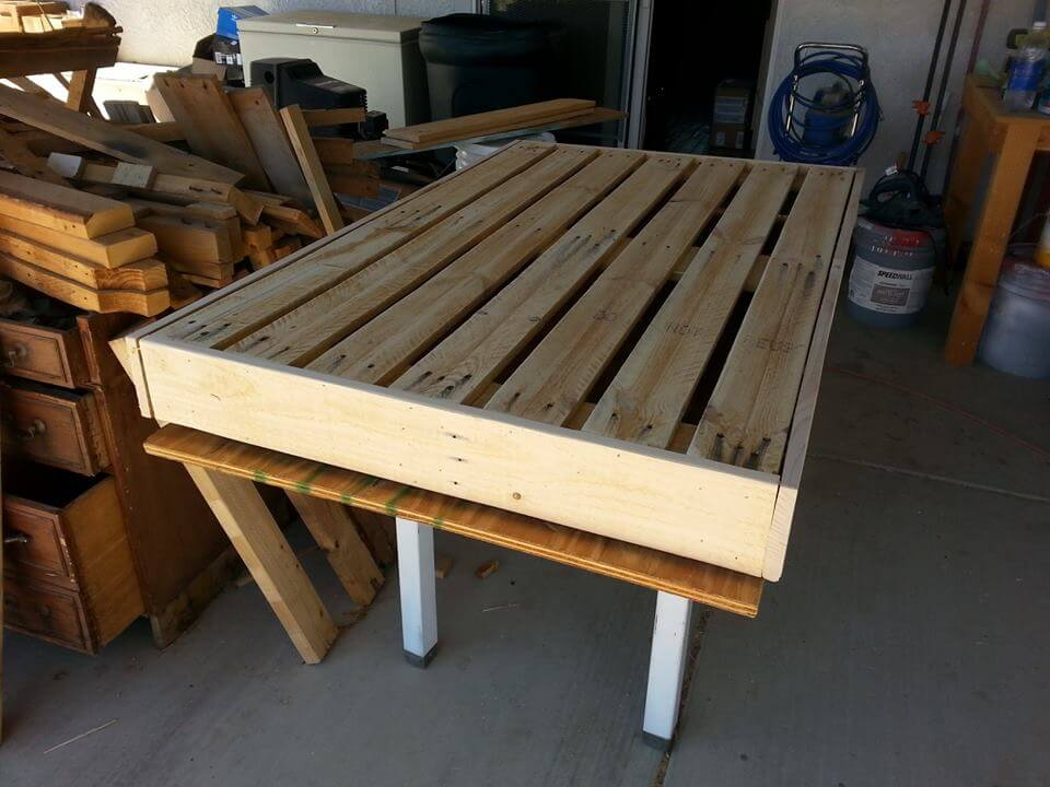 Pallet dog bed tutorial for How to make a platform bed out of pallets