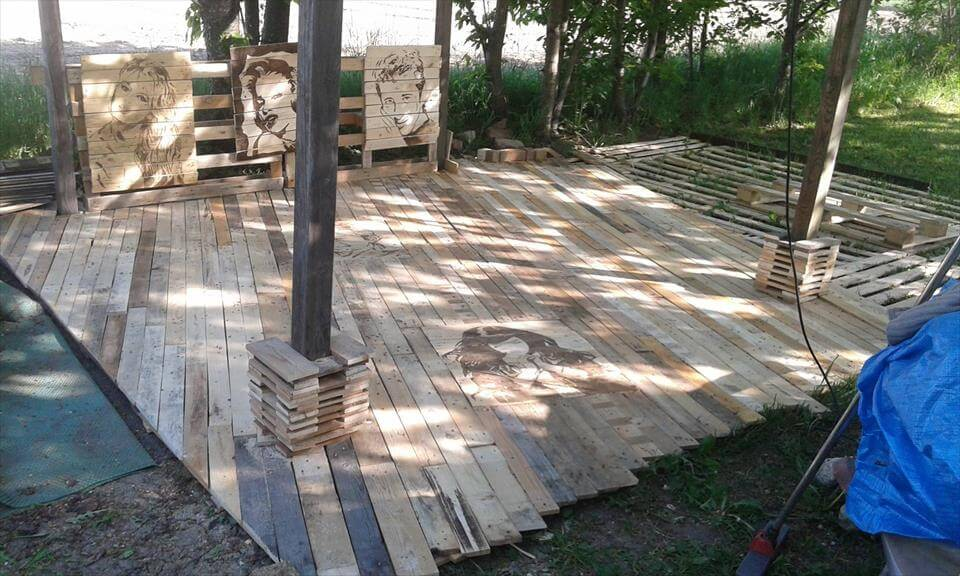 Pallet Deck Diy Patio Furniture