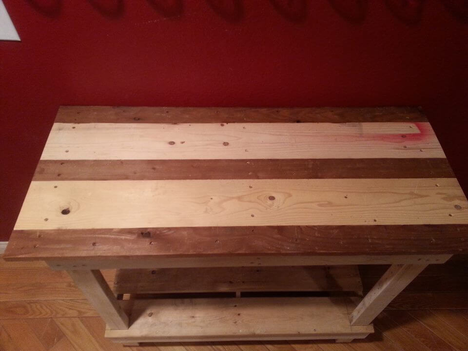 red hallway table. upcycled pallet entryway or hallway table with table. red