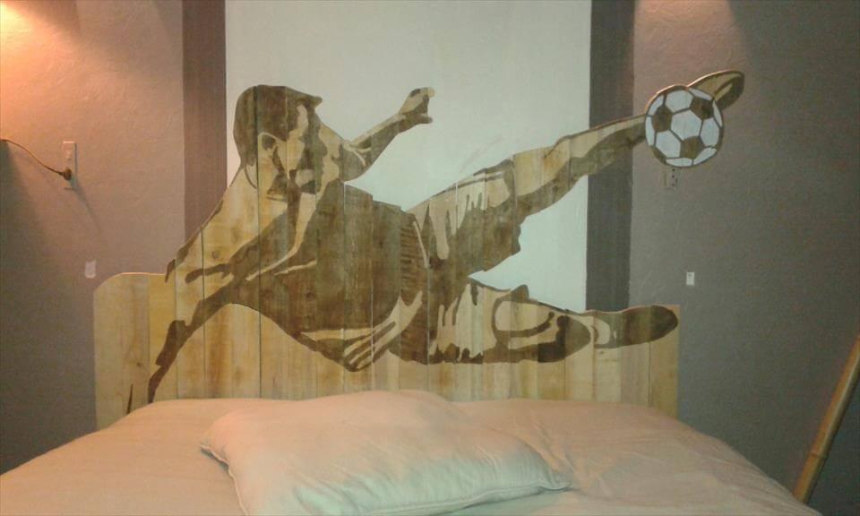 soccer player headboard design