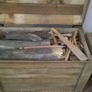 up-cycled pallet firewood chest