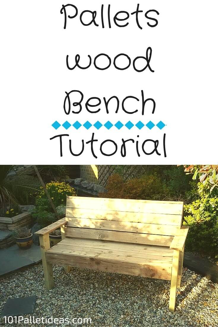 Bench From Pallets Wood