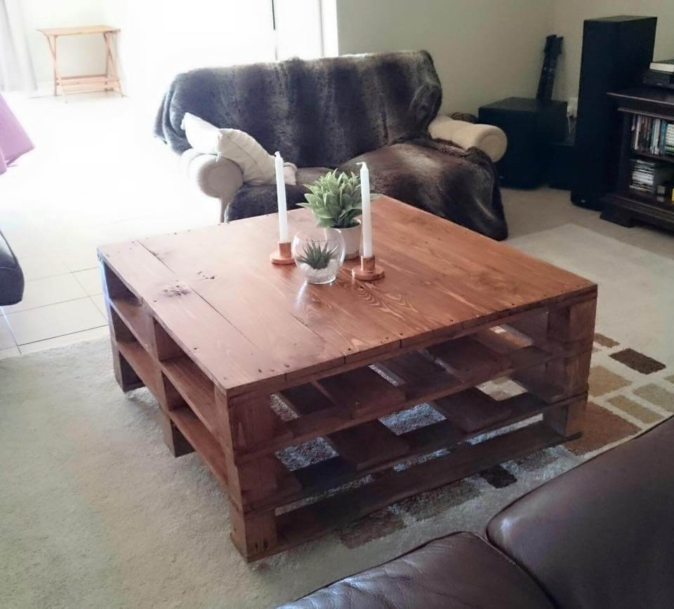 20 diy pallet coffee table ideas. Black Bedroom Furniture Sets. Home Design Ideas