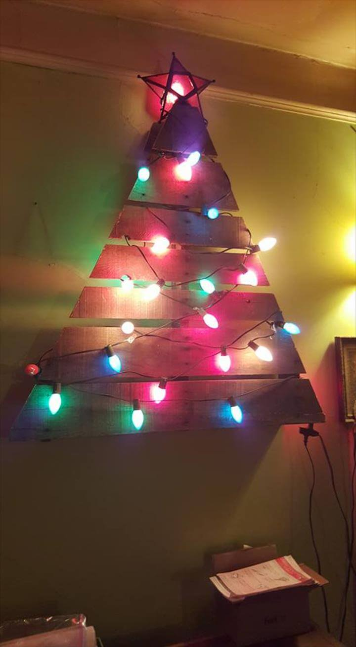 upcycled pallet wooden tree