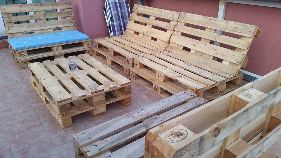 pallet terrace sofa set. Black Bedroom Furniture Sets. Home Design Ideas