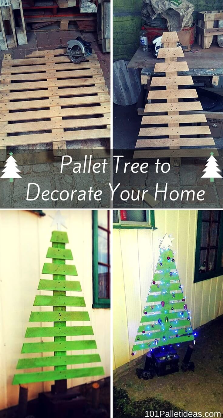 Pallet Tree to Decorate Your Home