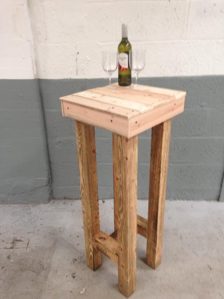 diy pallet bar stool