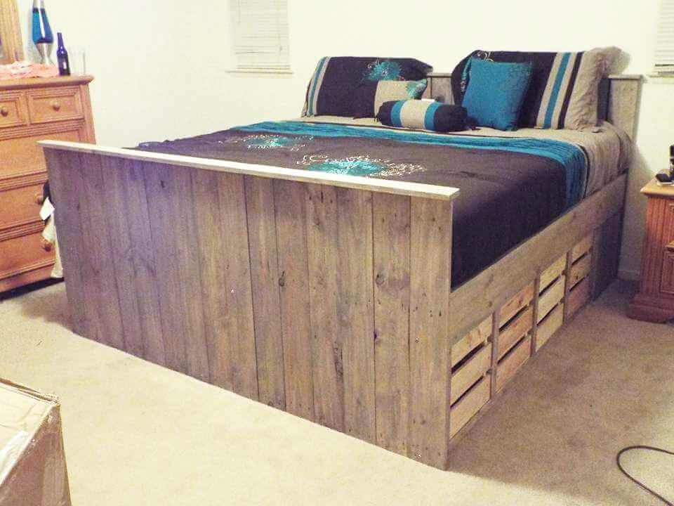 building a platform bed out of wooden pallets | Quick Woodworking ...