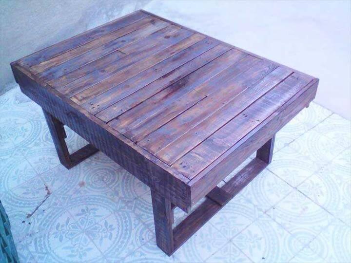 Gain beautiful tables by passing the pallets into a feasible procedure ...