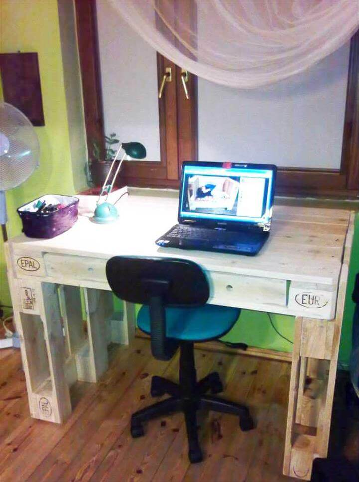 diy pallet wood laptop desk