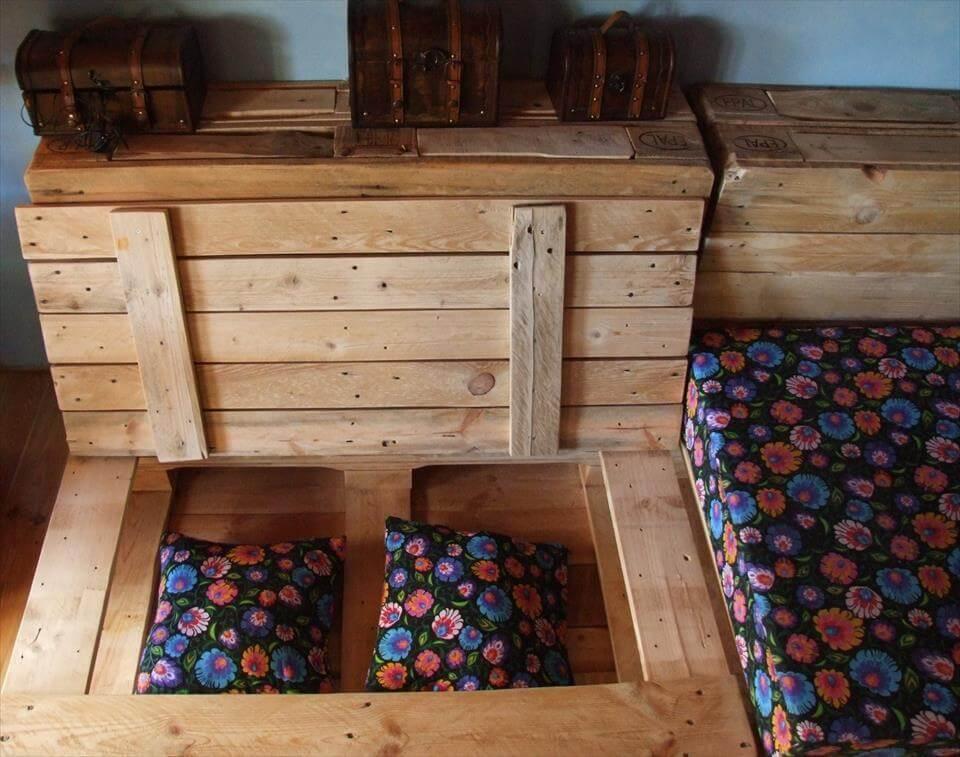 upcycled pallet corner sofa with storage