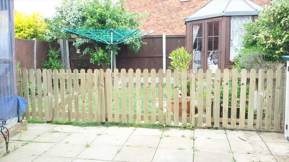 self-installed pallet fence