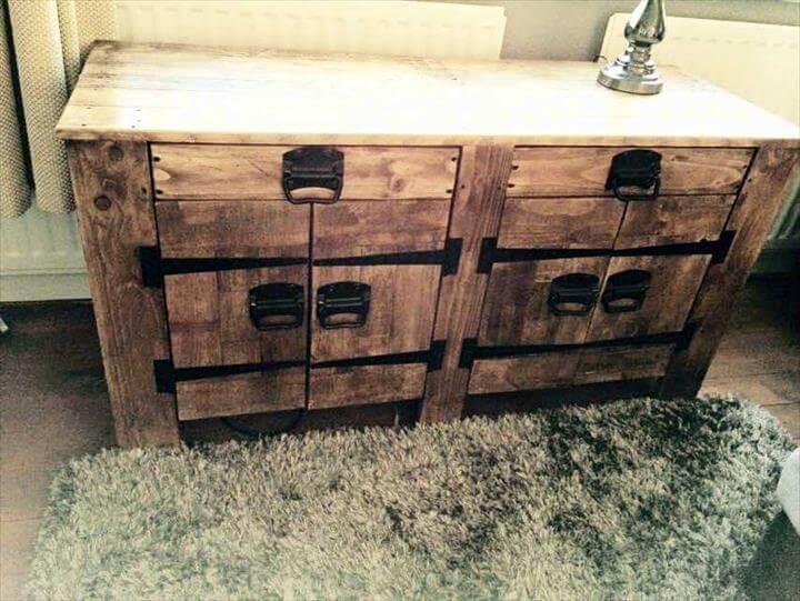 handmade pallet sideboard or dresser
