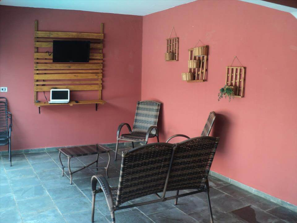 Pallet Wall Hanging wooden pallet wall decor - paneling ideas