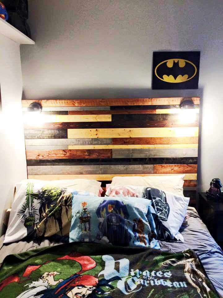 no-cost wooden pallet headboard