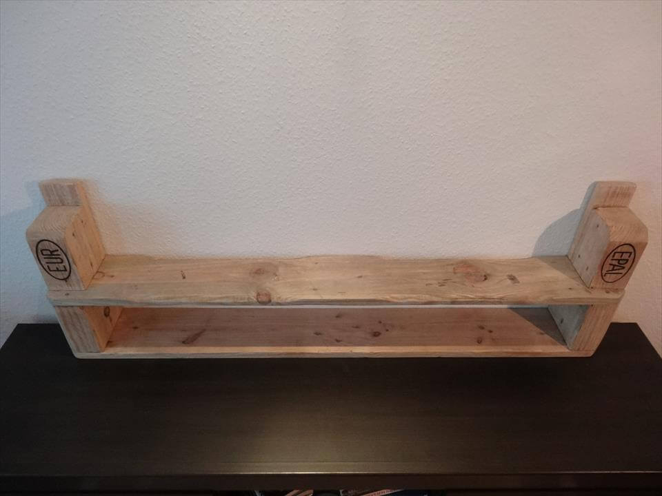 handcrafted pallet shelf