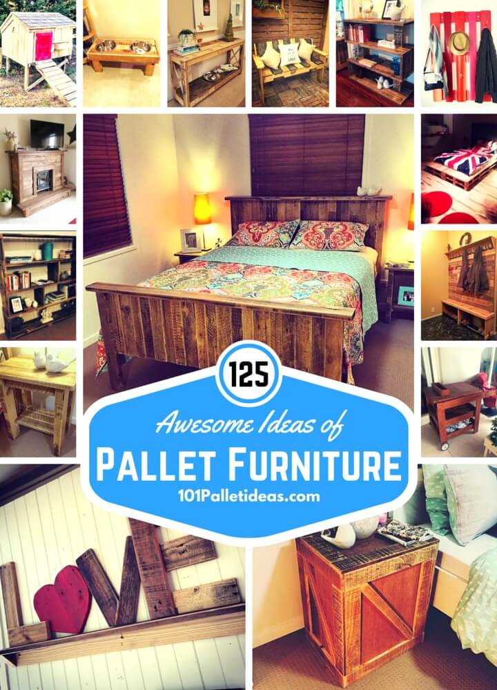 125 Awesome DIY Pallet Furniture Ideas - 101 Pallet Ideas
