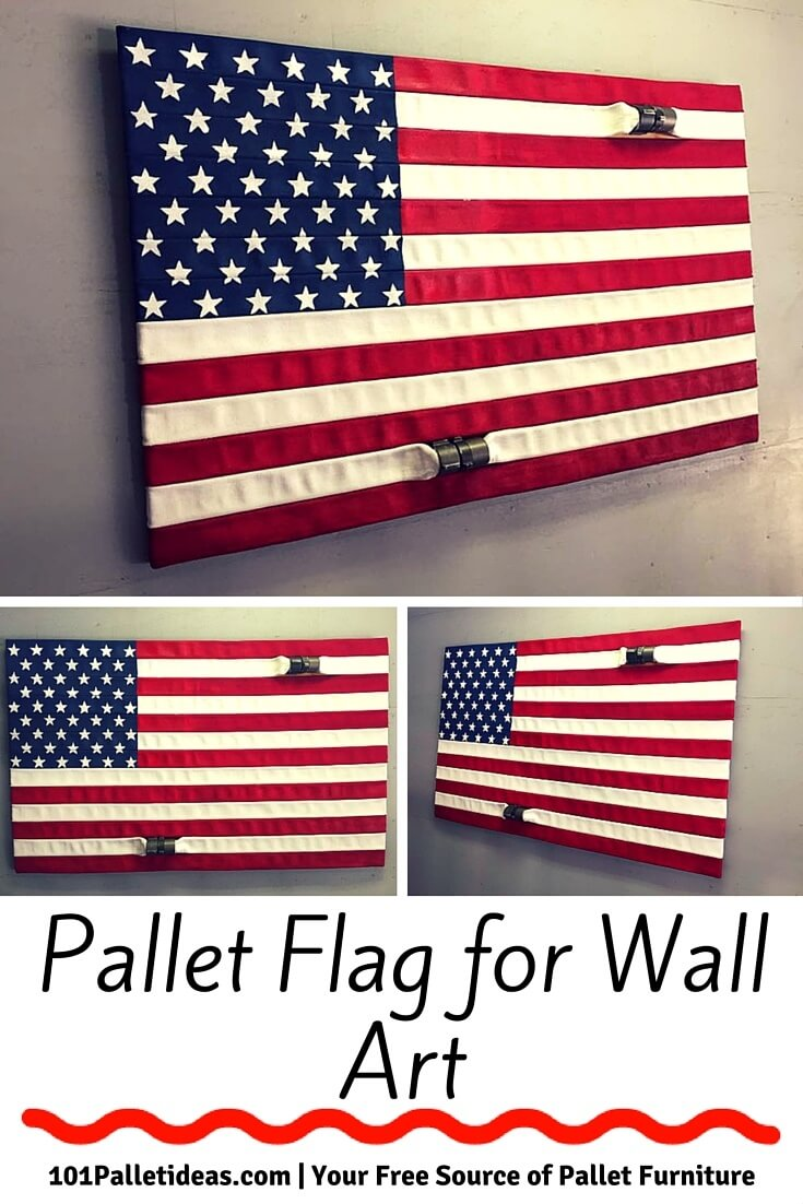 Original BLACK AND WOOD AMERICAN FLAG HOME DEFENSE CONCEALMENT WALL ART