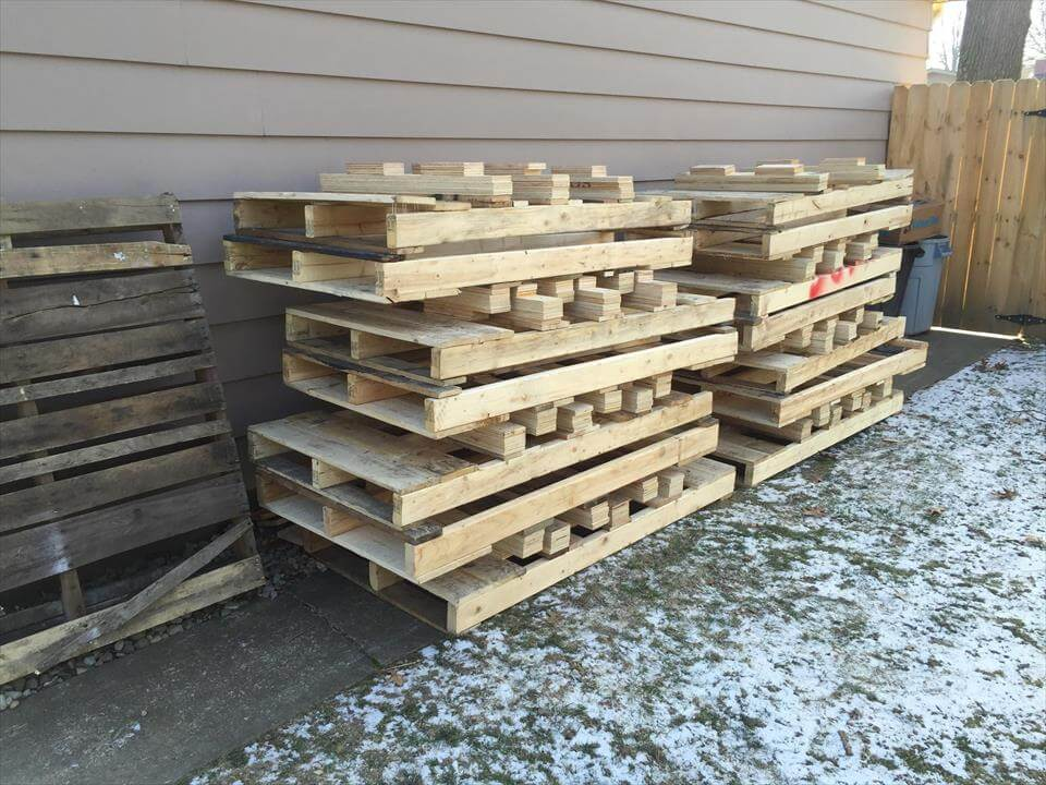 Upcycled pallet skids