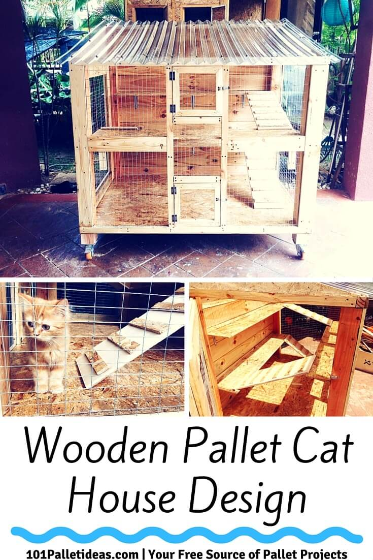 Wooden Pallet Cat House Design 101 Pallet Ideas