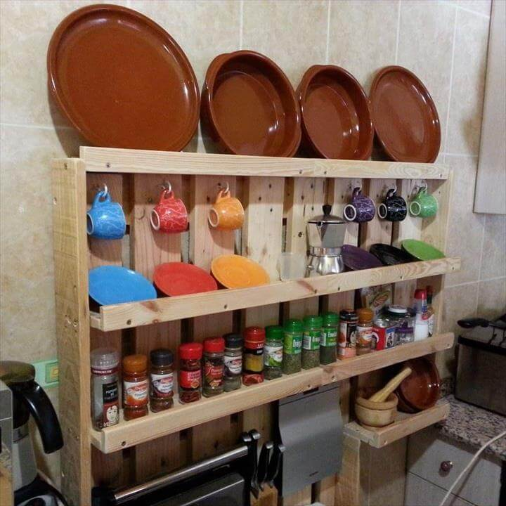 Pallet Spice Rack And Shelf