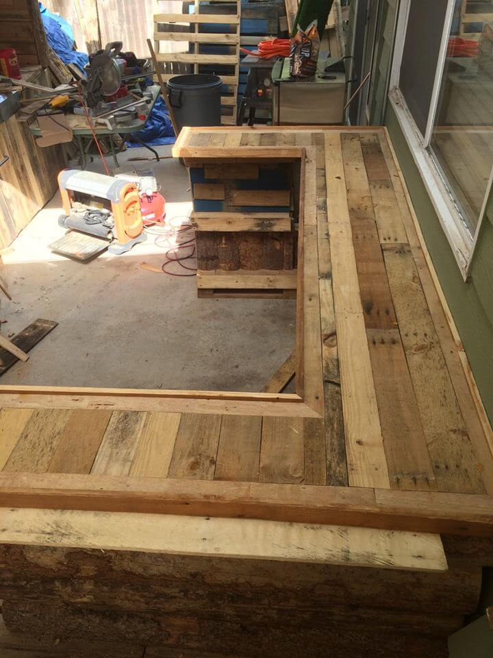 wooden pallet sturdy counter