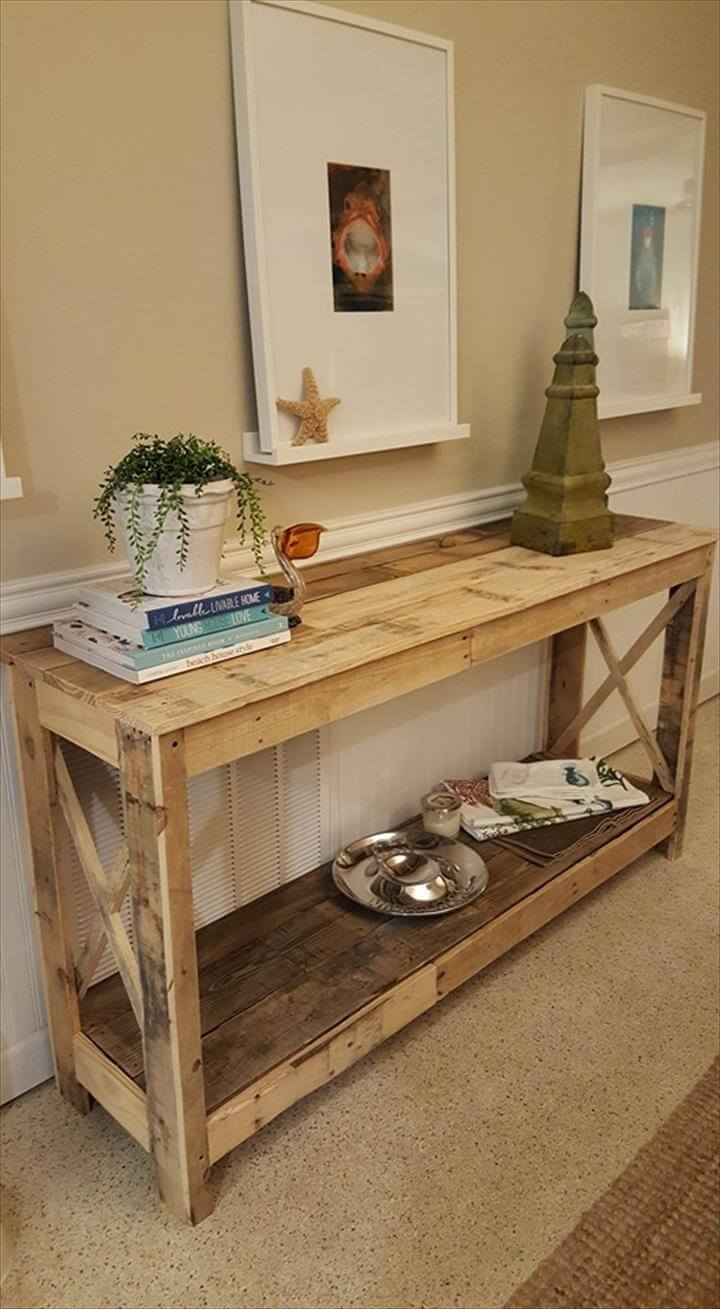 wooden pallet decorative console