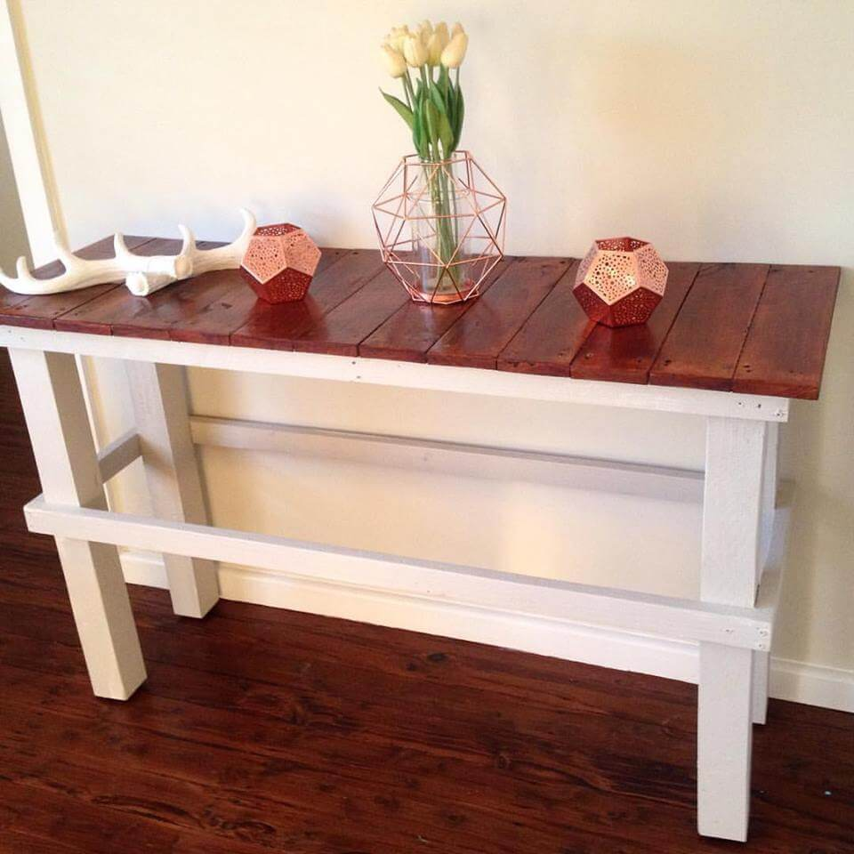 wooden pallet shabby chic console