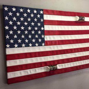 Wooden pallet flag for wall art