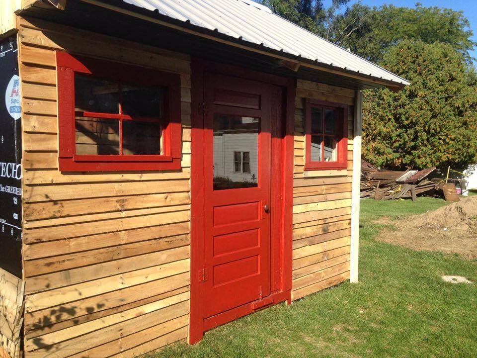 wood slats for shed 1