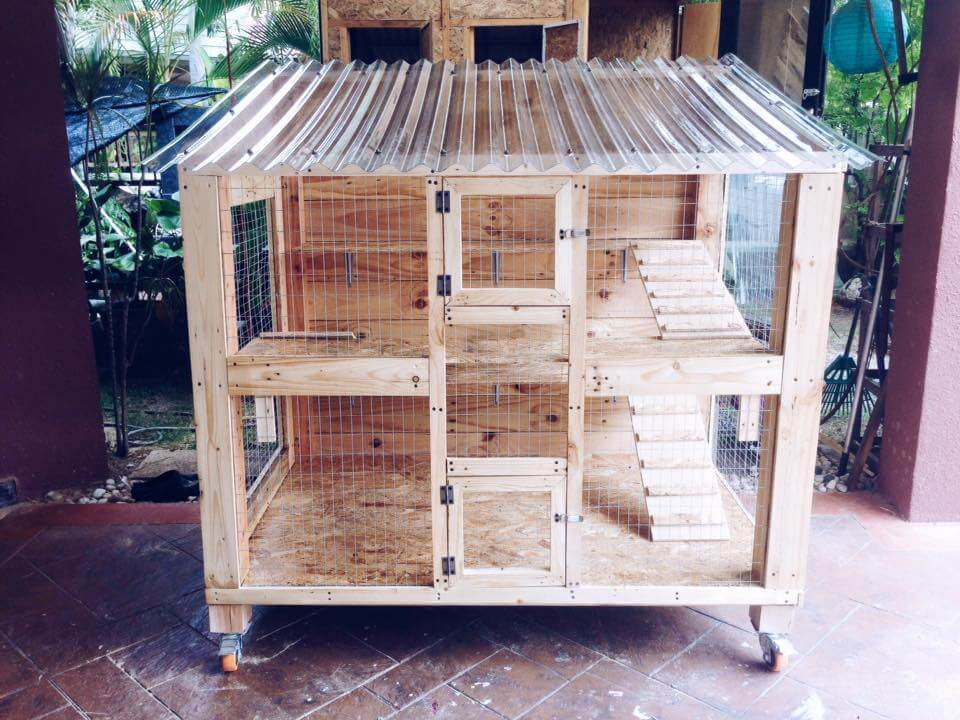 Out Of Pallets Wooden Pallet Cat House Design Upcycled