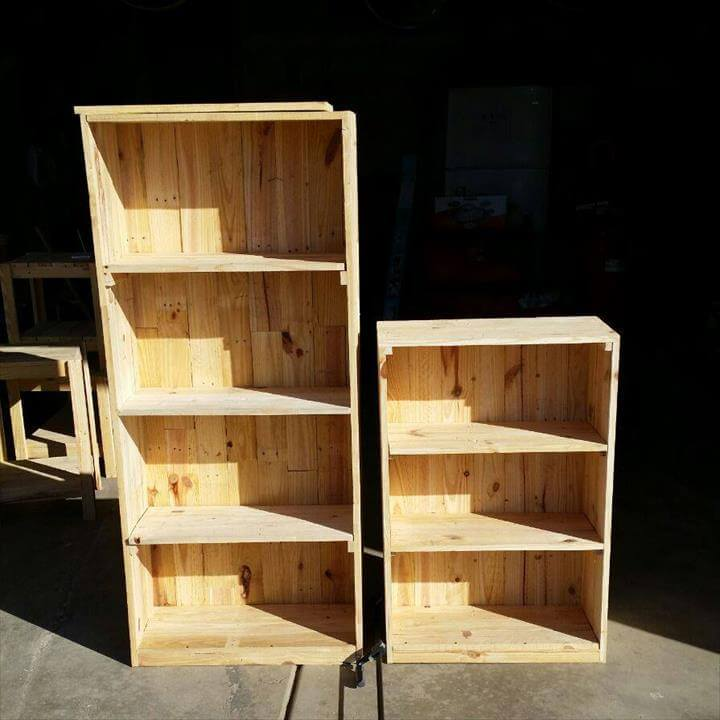 sturdy wooden pallet shelving unit