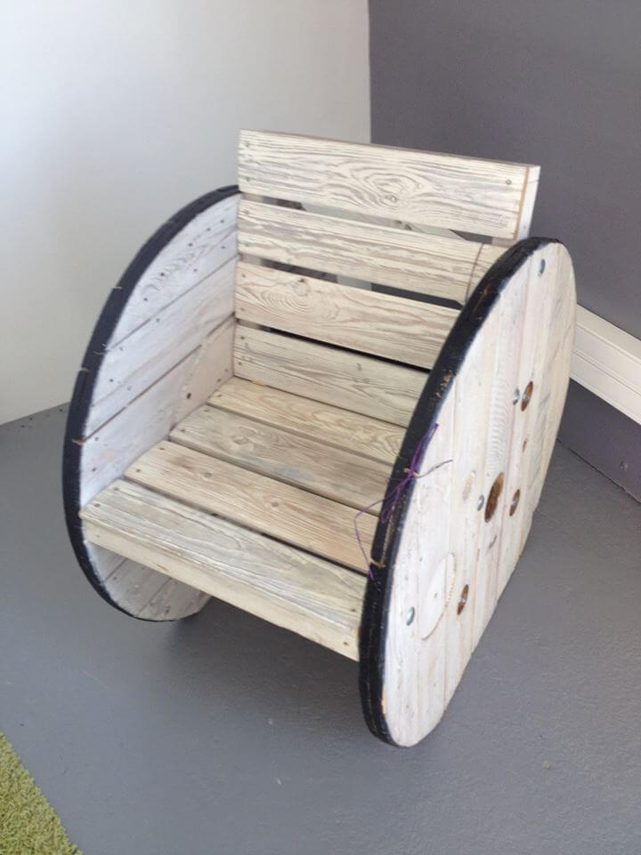 pallet and spool wheel chair
